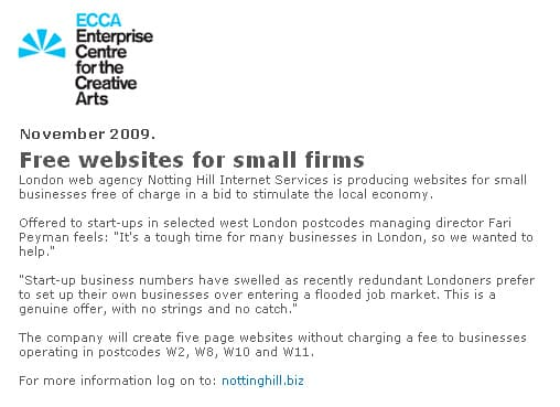 Free websites for small firms