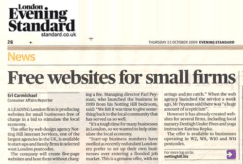 Firms offered free websites help