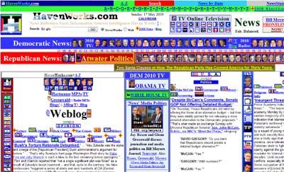 Screenshot of the Havenworks homepage